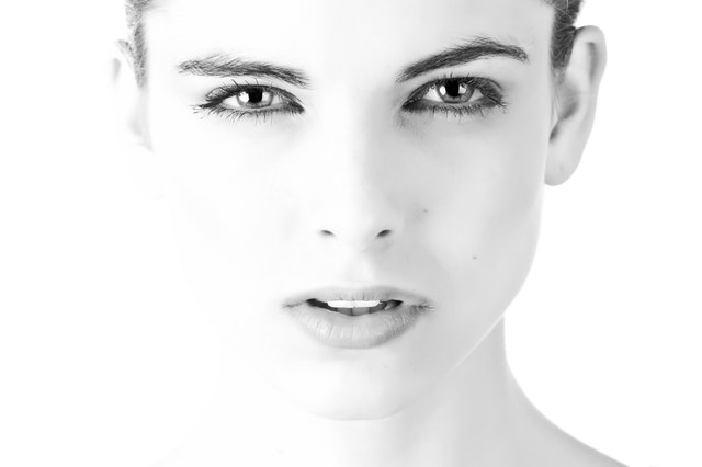 Model Face Beautiful Black And White 407035